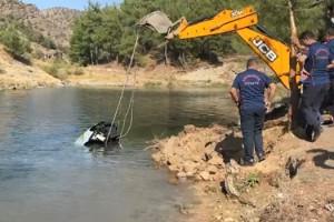 Kahramanmaraş'ta otomobil baraj gölüne düştü