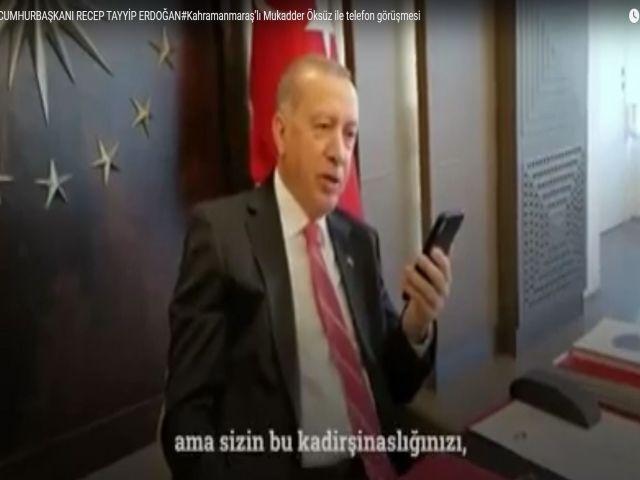 CUMHURBAŞKANI RECEP TAYYİP ERDOĞAN#Kahramanmaraş'lı Mukadder Öksüz ile telefon görüşmesi