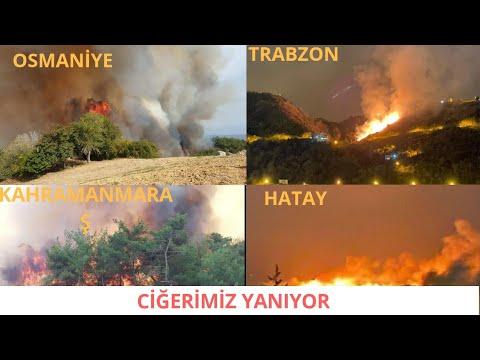 Kahramanmaraş,Trabzon, Osmaniye, Hatay'da Yangın (SON DURUM NE)
