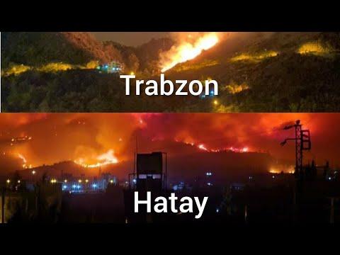 Hatay , Kahramanmaraş ve Trabzon'da Yangının Özel Vatandaş Kamerası Görüntüleri