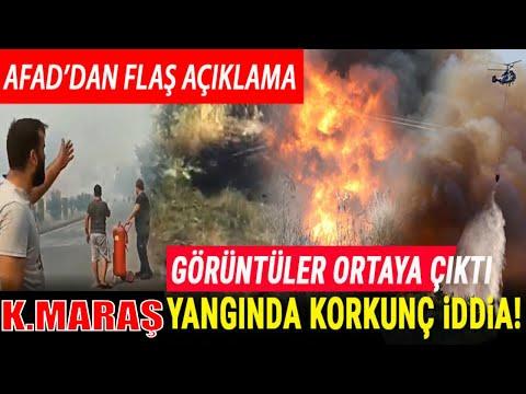 son dakika Hatay'ın ardından Kahramanmaraş'ta orman yangını 4 ayrı noktadan yakıldı